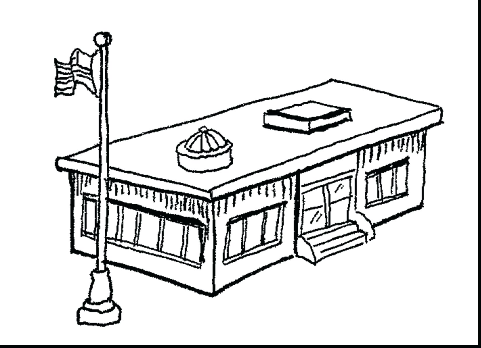 1650x1194 Coloring Building Coloring Pages