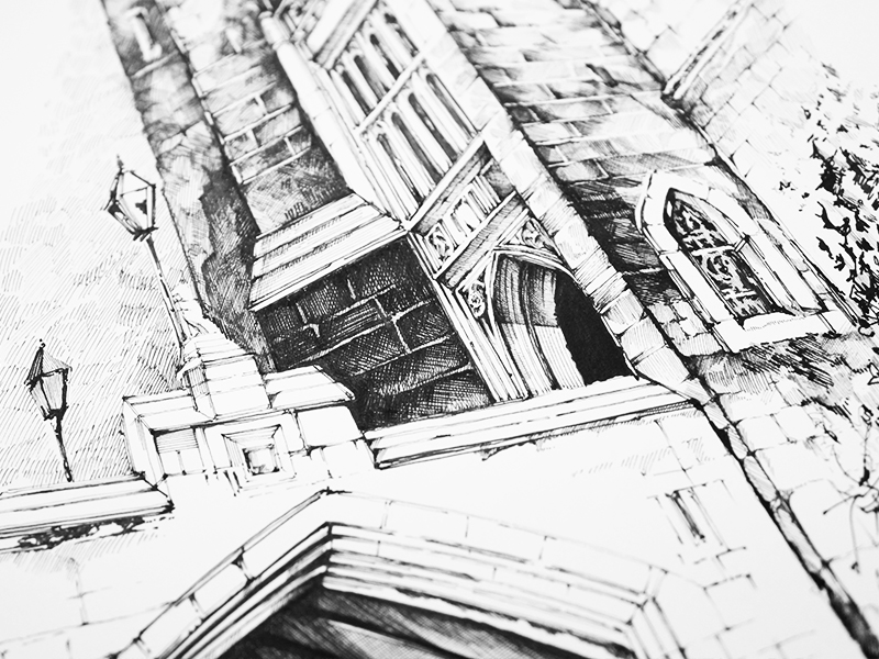 800x600 Bridge And Porch Of Middle Temple Library Drawing By Valerya