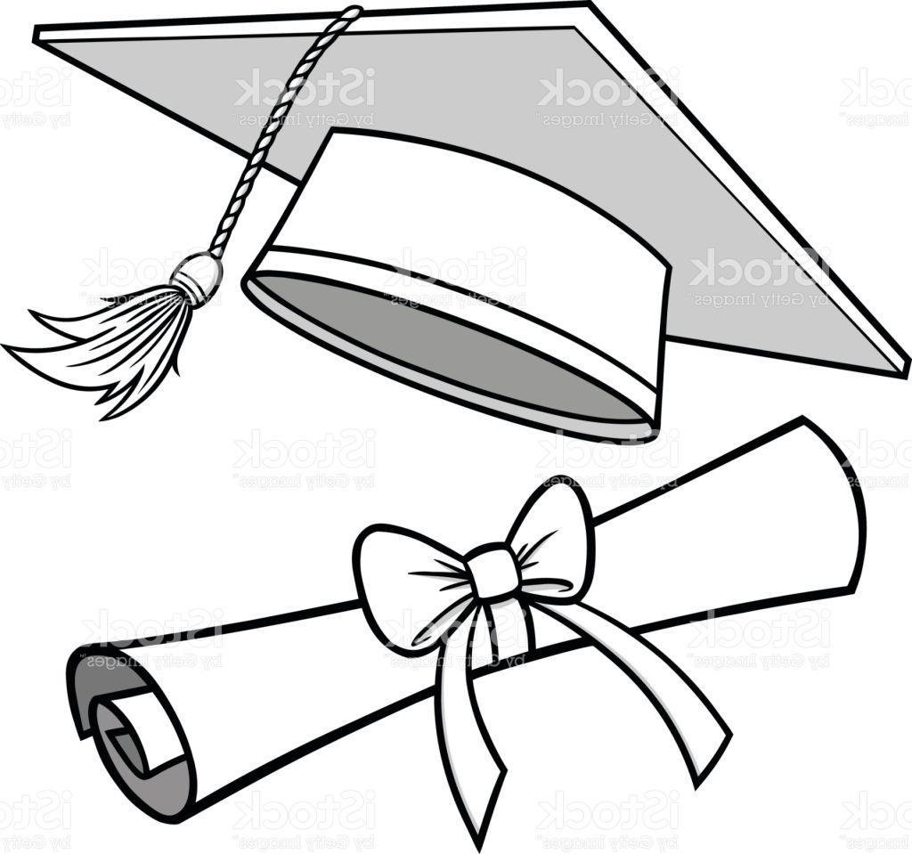 1024x959 Drawing Of Graduation Cap Best 15 Graduation Cap And Diploma