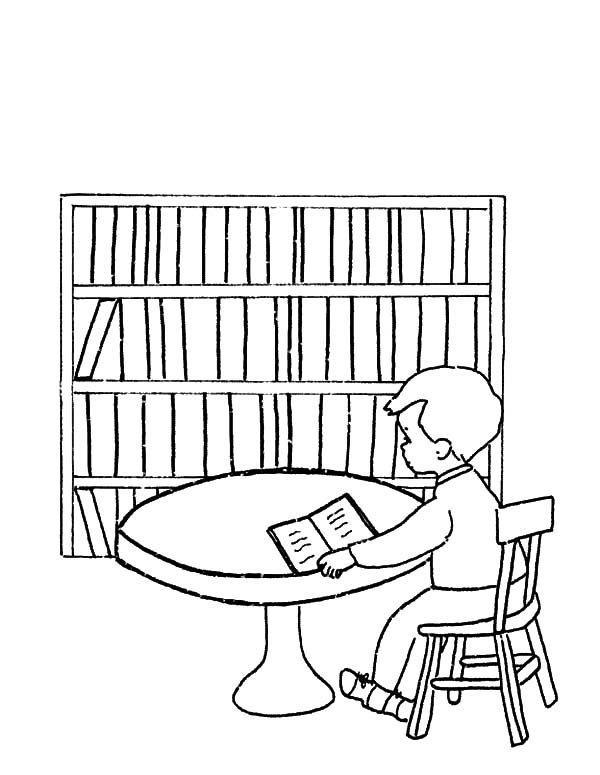 600x775 Library Be Quiet Please Coloring Pages