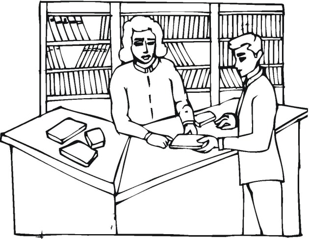 630x489 Library Coloring Pages