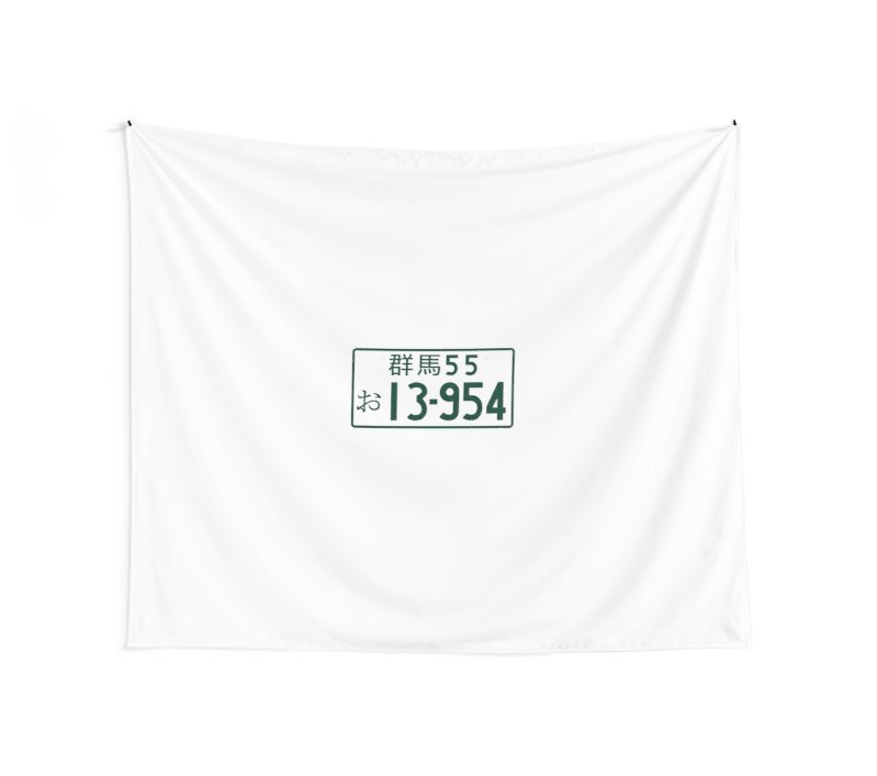 799x707 Initial D 13 954 Takumi Number Plate Wall Tapestries By