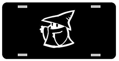 463x239 White Mage Logo License Plate Gloss Black