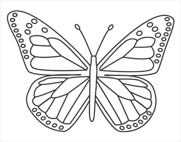 600x470 Coloring Page Butterfly Monarch Butterfly Coloring Page Coloring