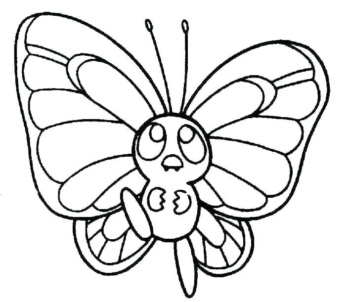 704x611 Here Are Butterfly Coloring Pages Images Cute Butterfly Line