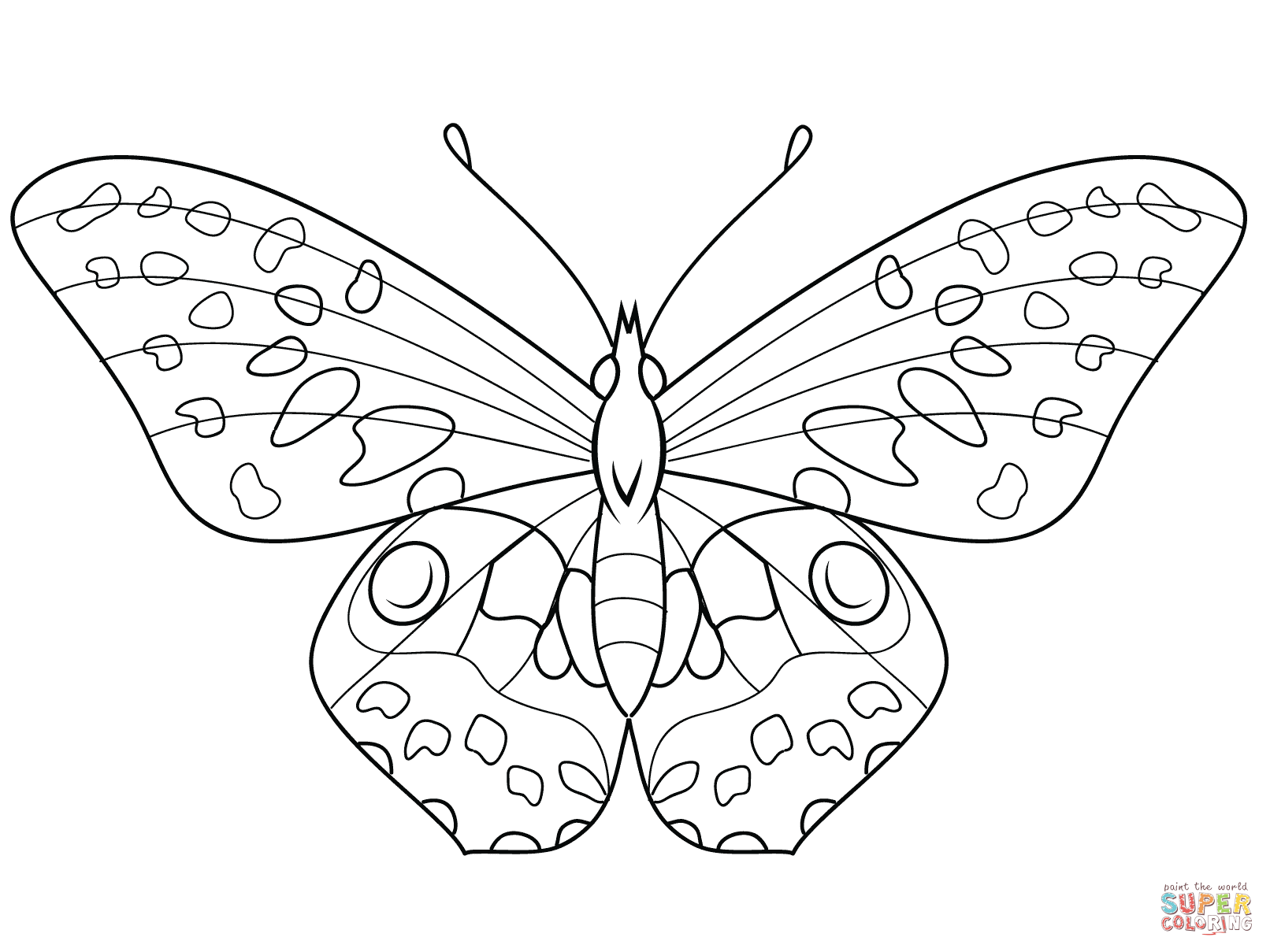 1612x1209 Butterfly Black And White Coloring Page Butterfly Drawings Black