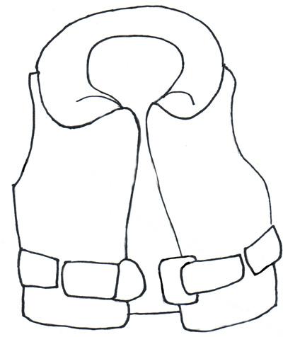 400x476 Life Preserver Clipart Black And White