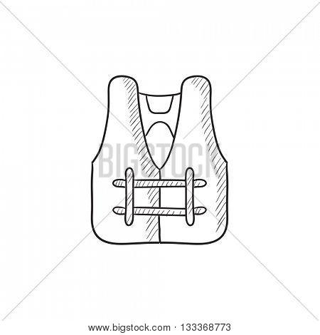 450x470 Life Vest Vector Sketch Icon Vector Amp Photo Bigstock