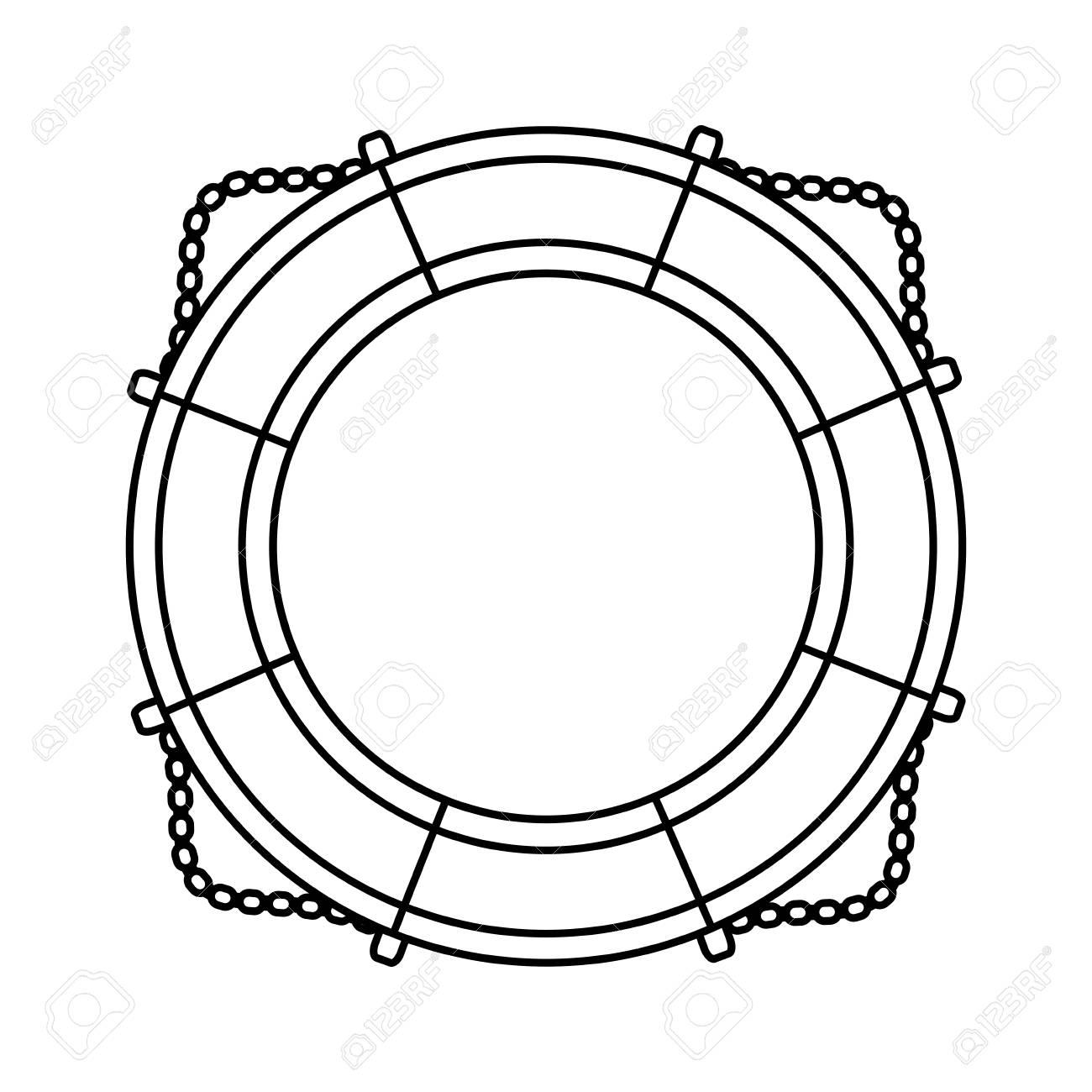 1300x1300 Nautical Life Ring Icon Vector Illustration Graphic Design Royalty