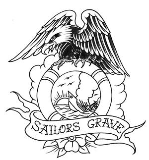 300x323 Sailor's Grave Symbol Includednnchor, Life Preserver, Or