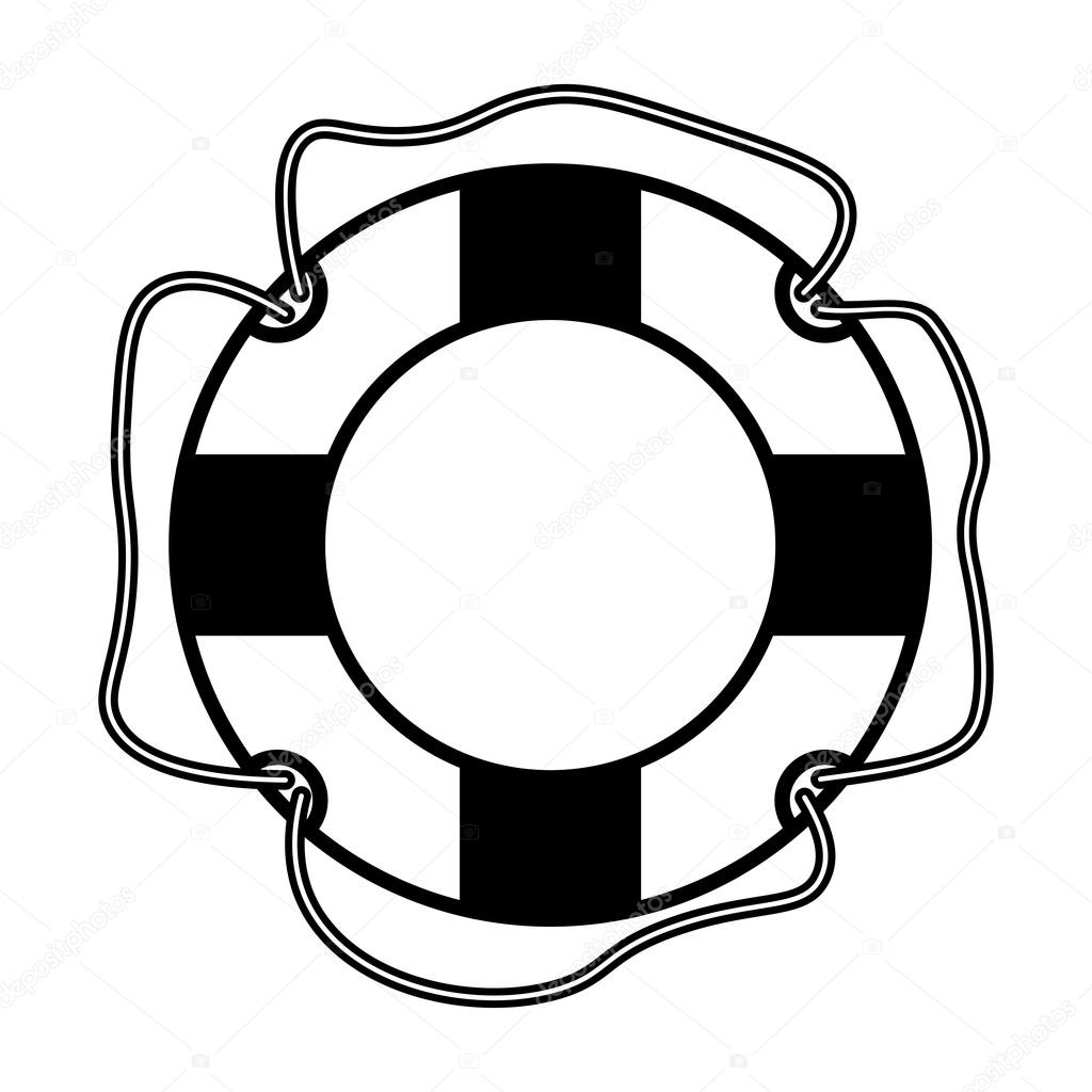 1024x1024 Vector Illustration Of A Life Buoy. Stock Vector Dimmsliz