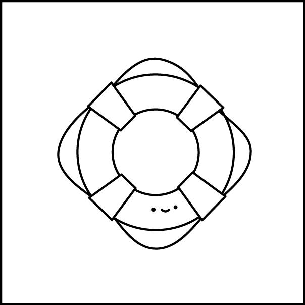 604x604 Wild Olive Pattern Hexagon Tinies Life Ring