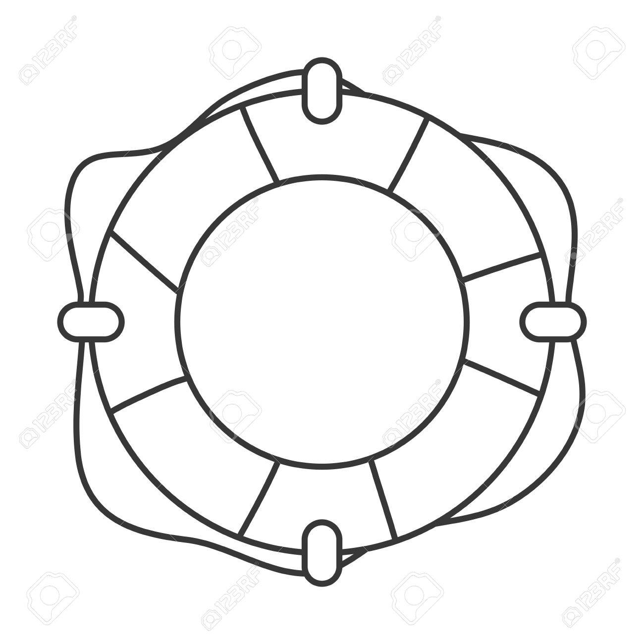 1300x1300 Flat Design Life Preserver Icon Vector Illustration Royalty Free
