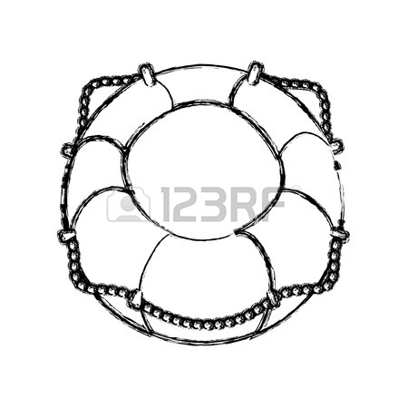 450x450 Nautical Life Ring Icon Vector Illustration Graphic Design Royalty