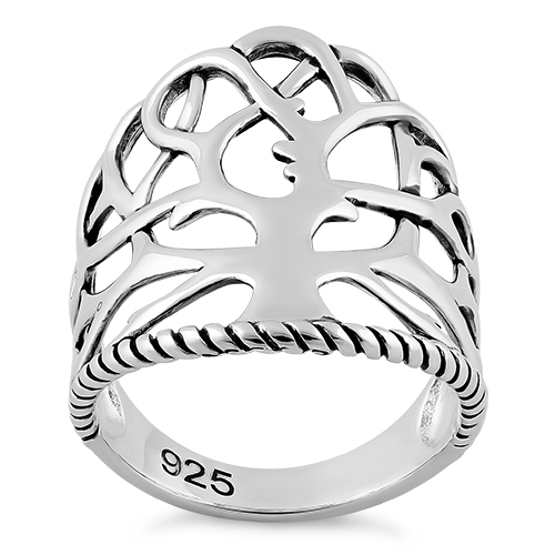 500x500 Sterling Silver Tree Of Life Ring For Sale Sterling Silver Rings