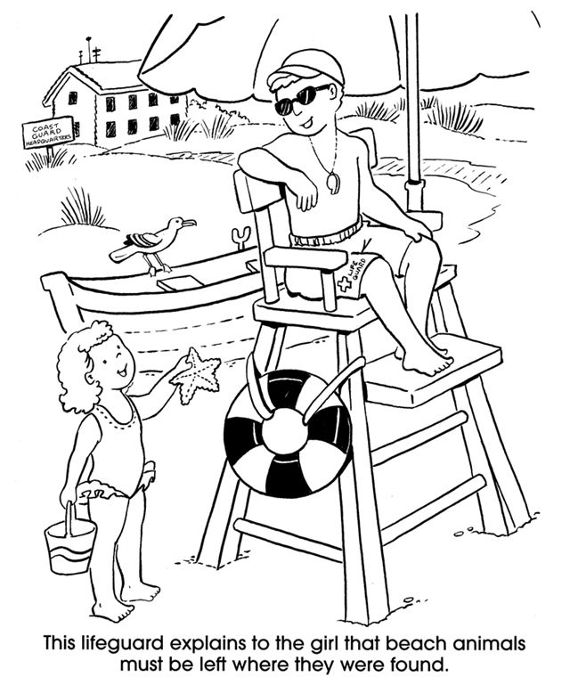 coloring pages of lifeguard stand - photo#1
