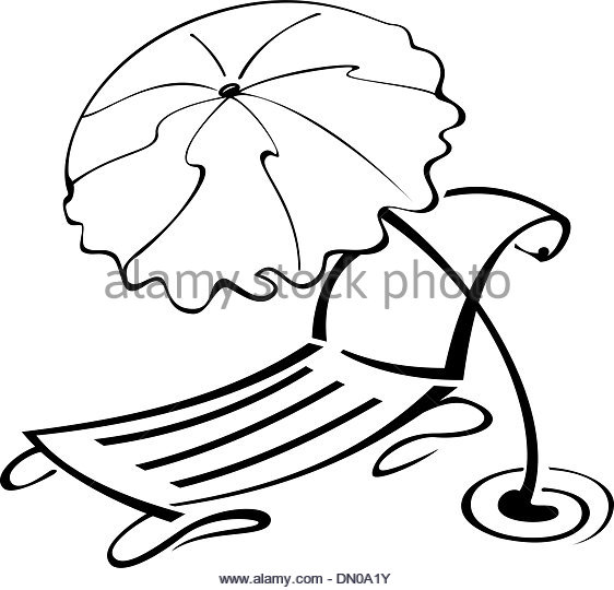 562x540 Beach Chair Black And White Stock Photos Amp Images