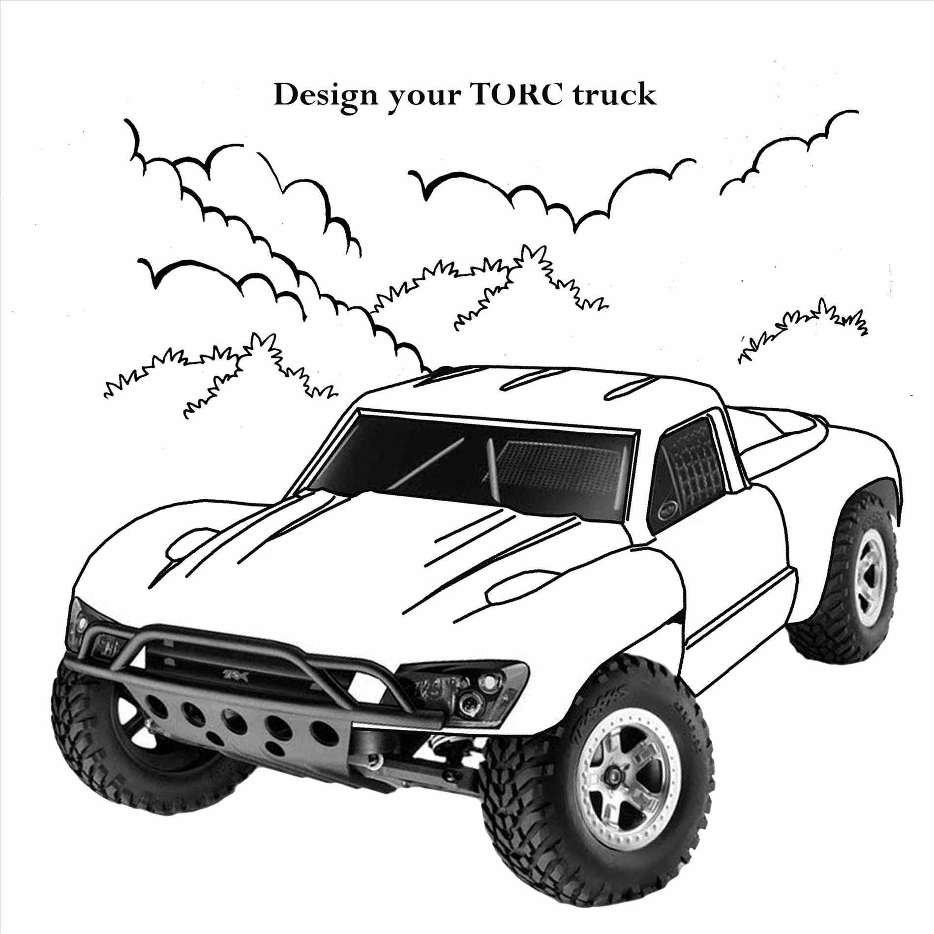Lifted Truck Drawing