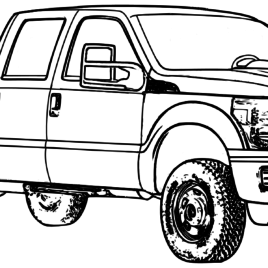 268x268 Lifted Truck Coloring Page Archives