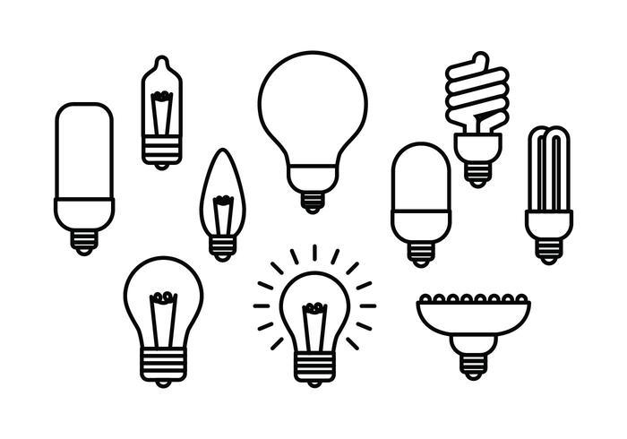 700x490 Free Light Bulb Line Icon Vector