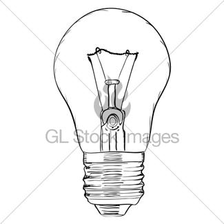 325x325 Hand Drawn Light Bulb On White Background. Eps8 Vector Gl Stock