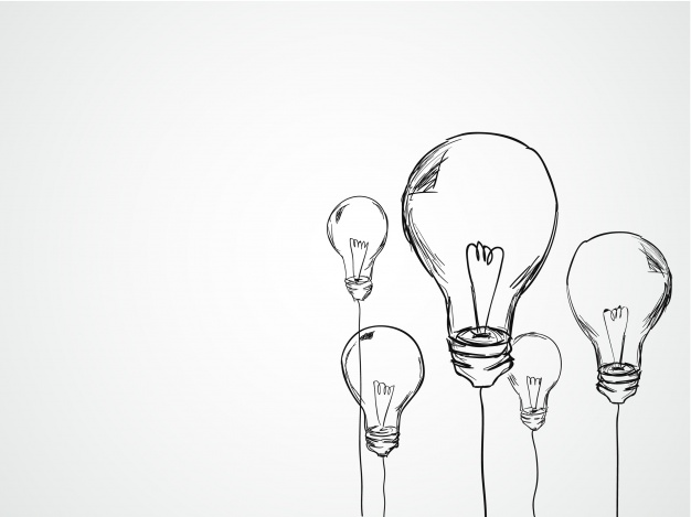 626x469 Hand Drawn Light Bulbs Vector Free Download