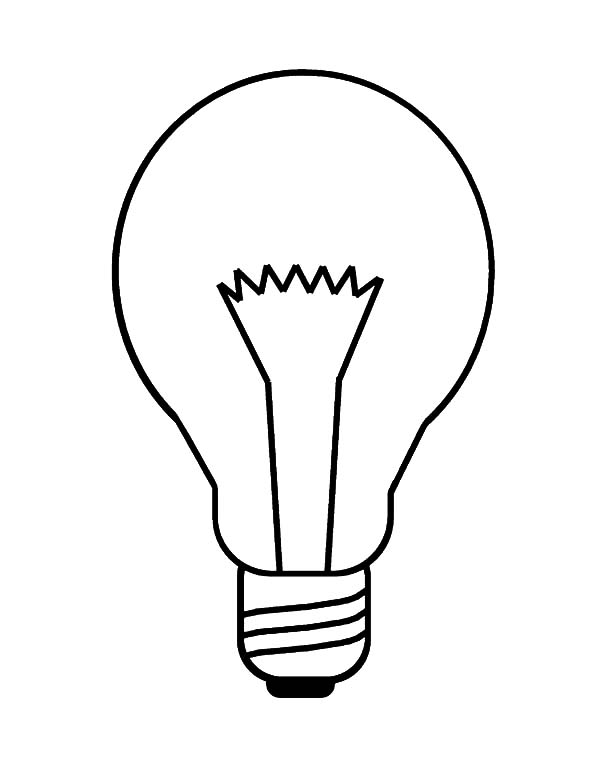 600x776 Incandescent Light Bulb Coloring Pages