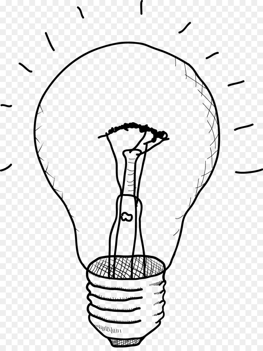 900x1200 Incandescent Light Bulb Drawing Sketch