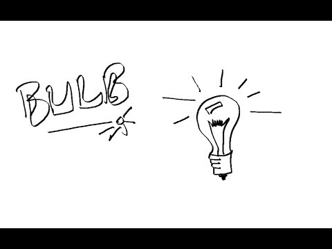480x360 Easy Kids Drawing Lessons How To Draw A Lightbulb Cartoon