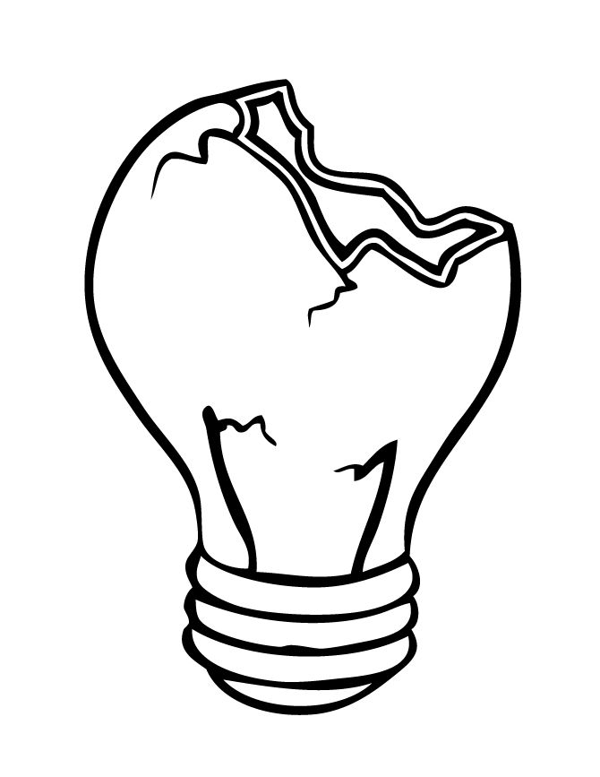 Light Bulb Line Drawing