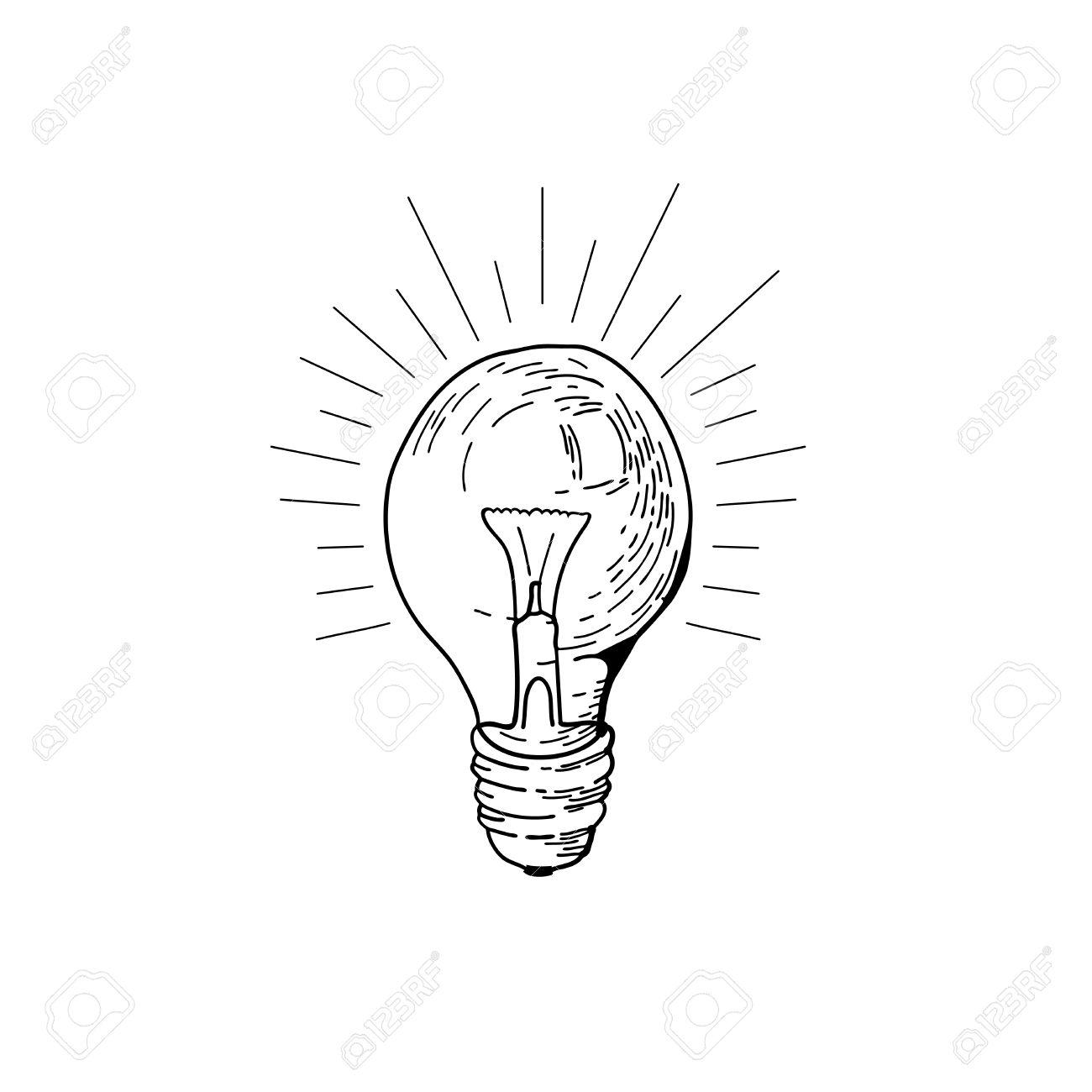 1300x1300 Drawn Hand Light Bulb