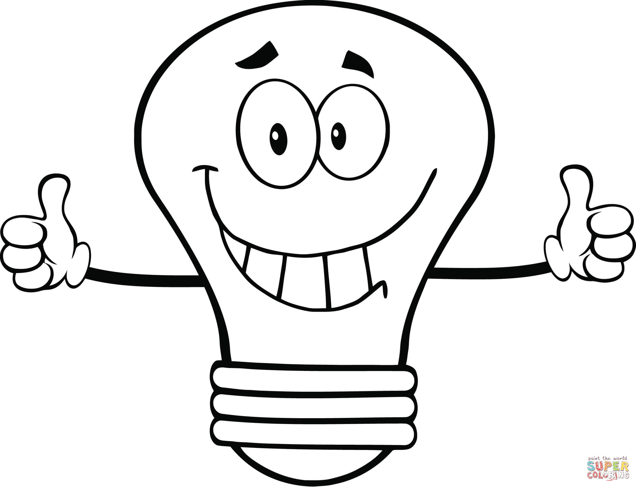 2182x1670 Light Bulb Coloring Page Free Printable Coloring Pages