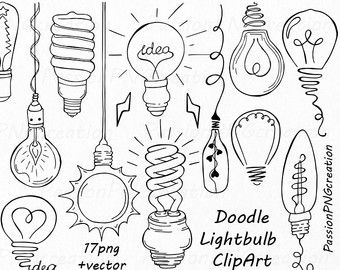 340x270 Lightbulb Clip Art, Wedding String Light Clipart, Vintage Edison