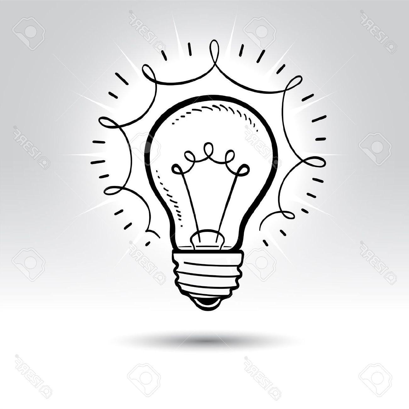 1300x1300 Best Hd Light Bulb Drawing Stock Vector Idea Design