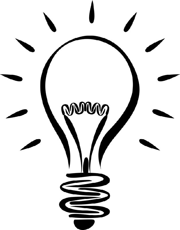 628x800 The Top 5 Best Blogs On Line Drawing Clipart Light Bulb