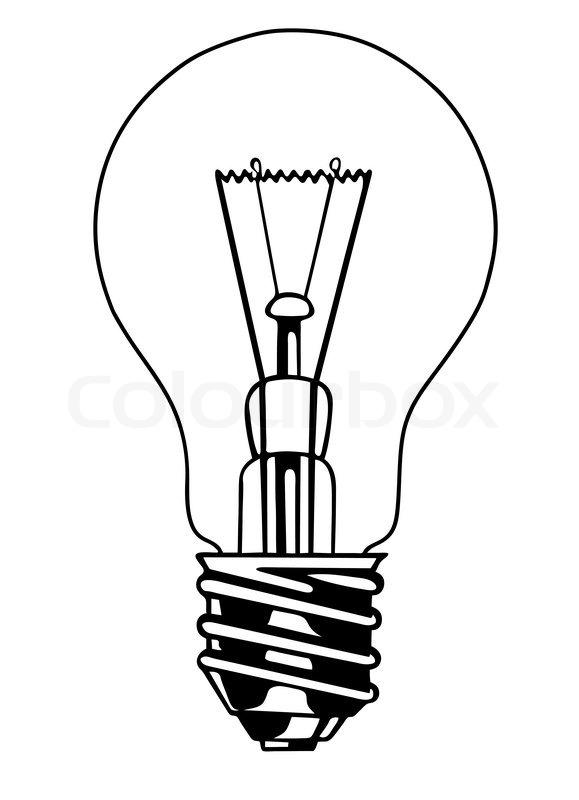 579x800 Vector Light Bulb On White Background Stock Vector Colourbox