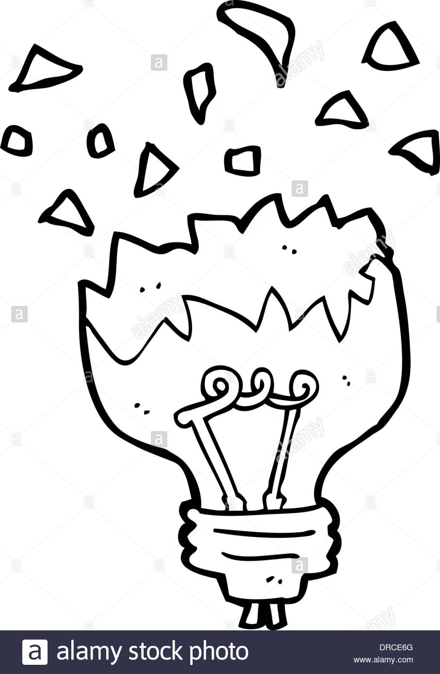 907x1390 Cartoon Light Bulb Exploding Stock Vector Art Amp Illustration