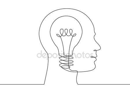 Light Bulb Line Drawing At Getdrawings Com