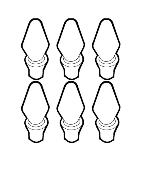 508x657 Christmas Lights Coloring Pages Christmas Light Bulb Page Clip Art
