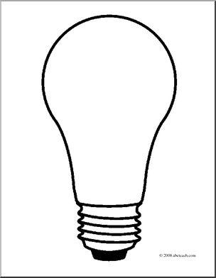 304x392 Clip Art Light Bulb 2 (Coloring Page) I Abcteach