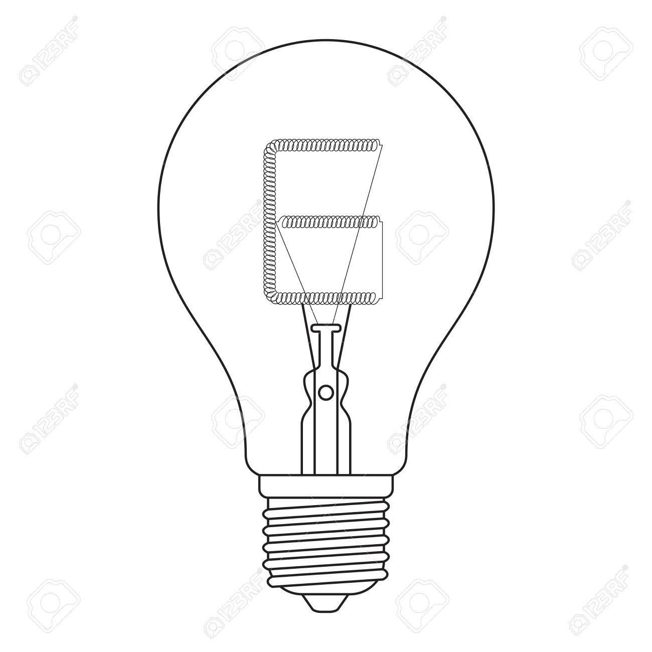1300x1300 The Letter E, In The Alphabet Incandescent Light Bulb Set Outline