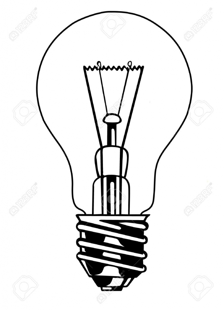 740x1024 Drawing Of A Light Bulb Drawing A Realistic Lightbulb In Graphite