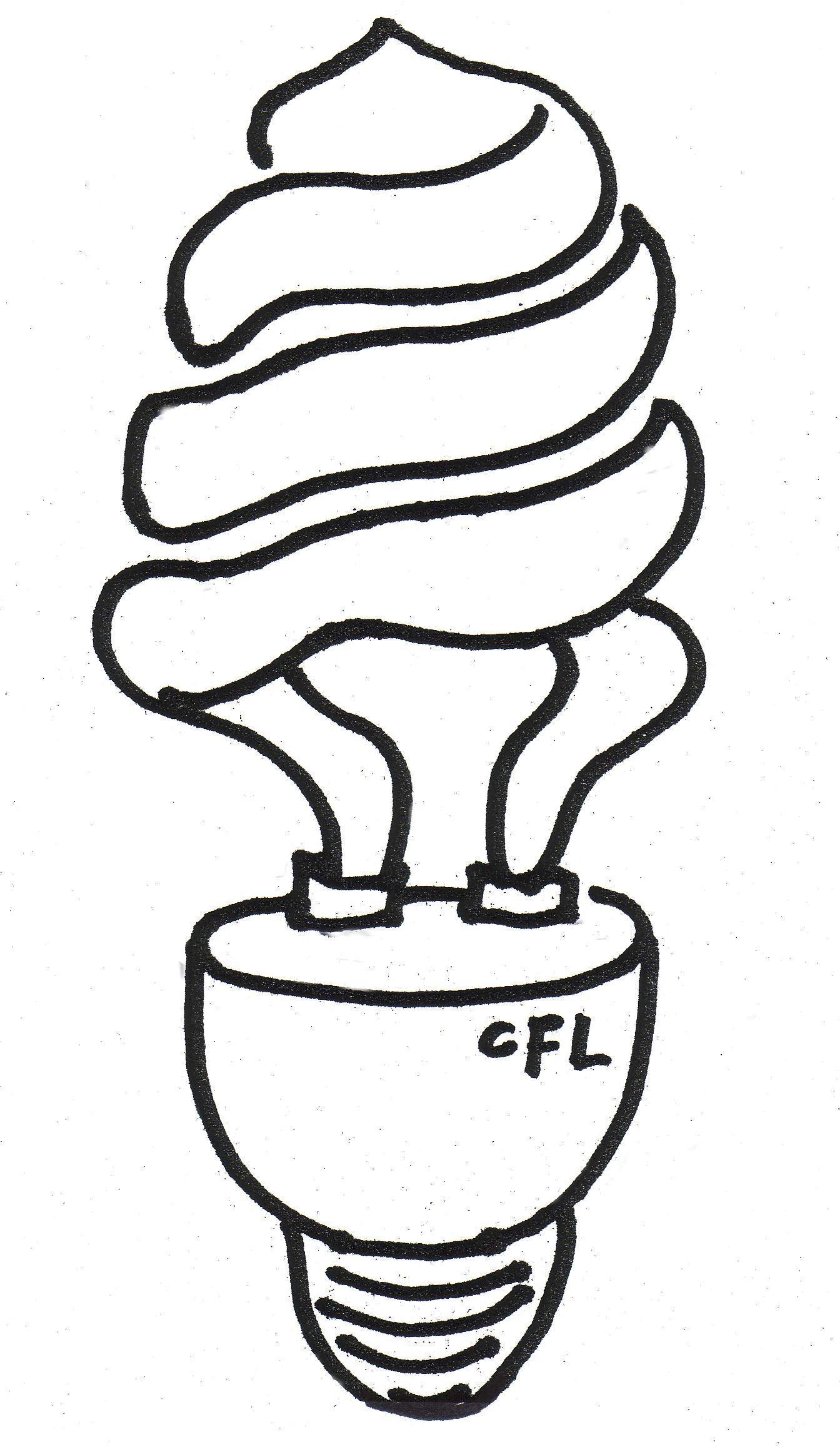 1344x2316 Drawn Light Bulb Flourescent Light