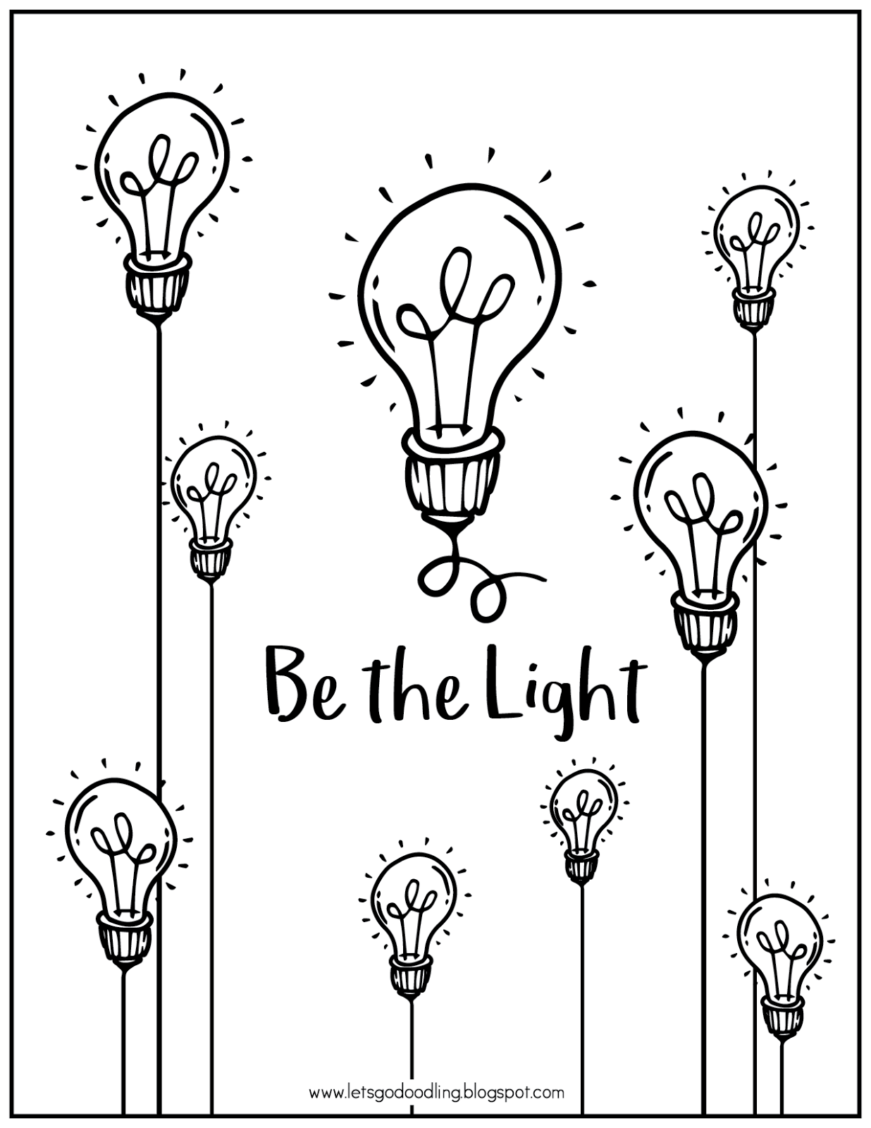 This is an image of Simplicity Light Bulb Printable