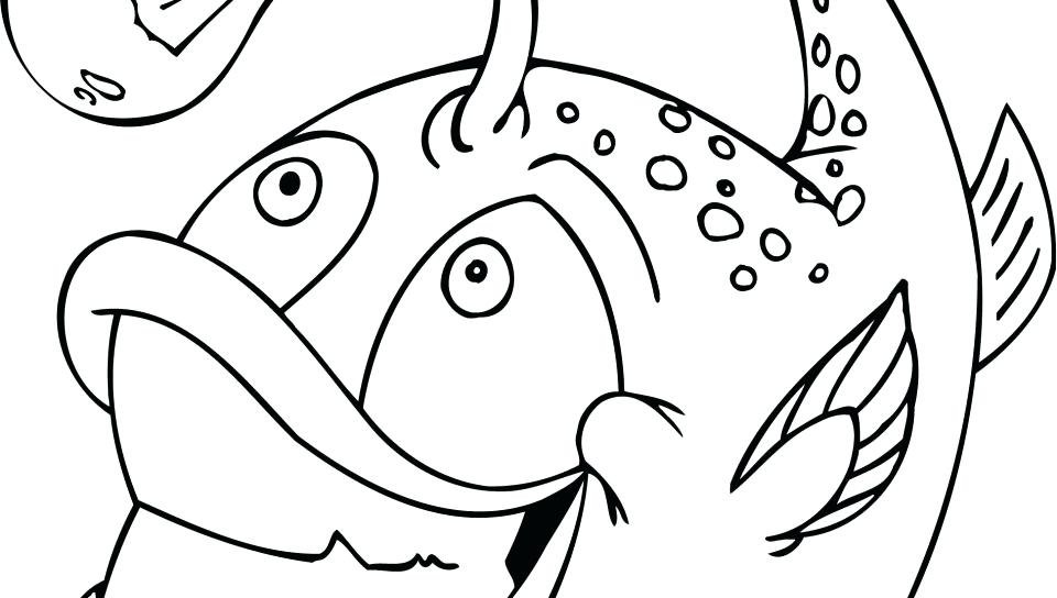 Funny Fish With Bulb Funny Fish Coloring Pages