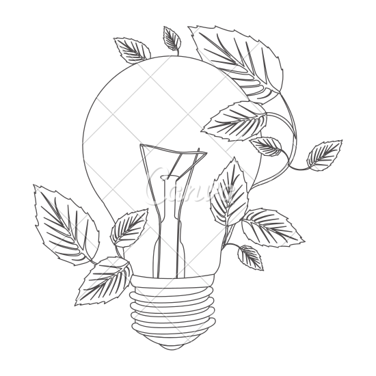 550x550 Light Bulb And Creeper Plant Icon