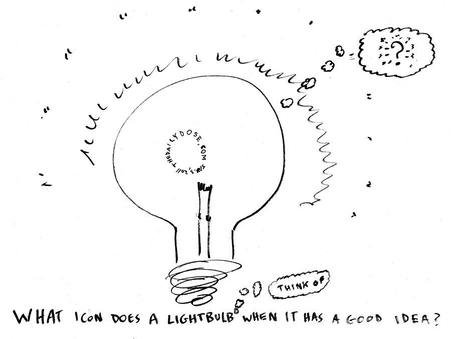 900x676 What Do Lightbulbs Think Of Cartoon Drawing By Yasha Harari