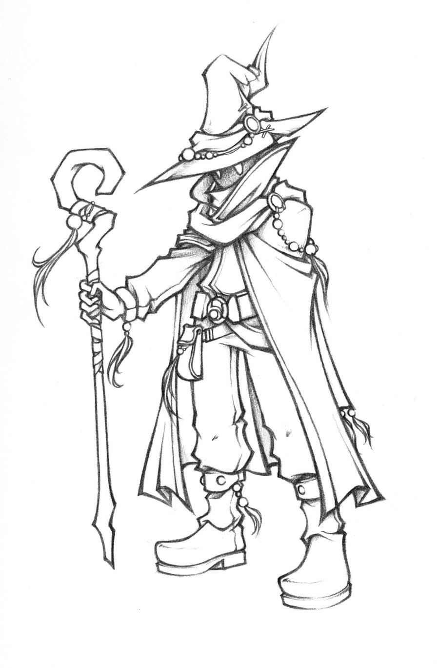 900x1369 Dissidia Black Mage Of Light Sketch By Isaiahjordan