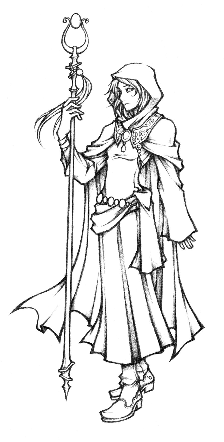 900x1778 Dissidia White Mage Of Light Sketch By Isaiahjordan