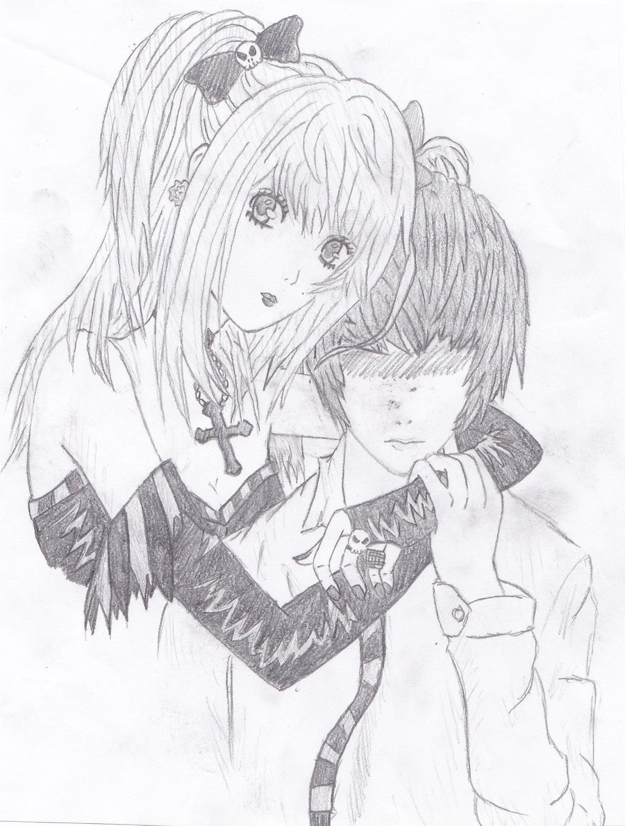 900x1190 Misa And Light Death Note By Mao Sensei